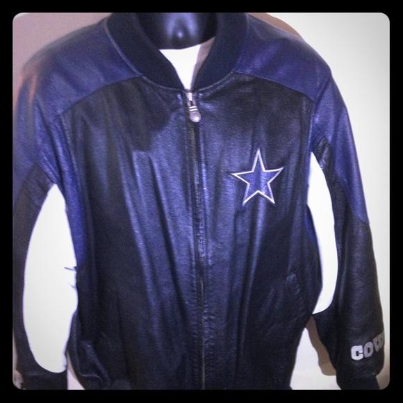 size 40 ff5d1 93aef Leather Dallas Cowboys Jacket